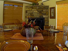 Storm Mountain Cottage Dining Room with Fireplace